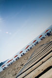 Overgeheld strand Stock Fotografie