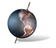 Overgehelde Wereldbol Stock Afbeelding