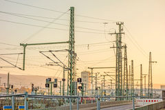Overground ślada główna stacja kolejowa Stuttgart Fotografia Stock