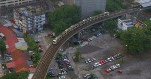 Overground kolej w Kuala Lumpur, Malezja zdjęcie wideo