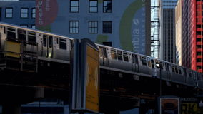Overground metro pętla Chicago - miasto Chicago zdjęcie wideo