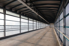 Overground pedestrian bridge Stock Photography