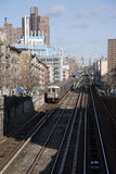 Overground railroad Manhattan New York USA Royalty Free Stock Images