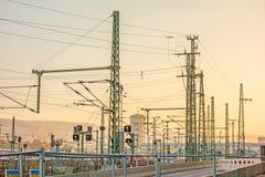 Overground tracks of the main railway station of Stuttgart Stock Photography
