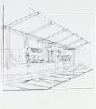 Overground train station Stock Photography