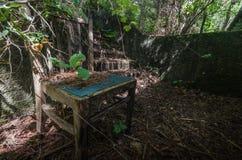 overgrown armchair detail stock photos