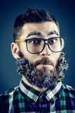 Overgrown beard Royalty Free Stock Photo