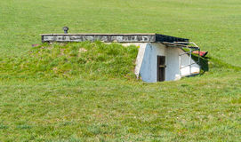Overgrown bunker Royalty Free Stock Photo