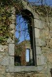 Overgrown church window ruins in Scotland stock photos