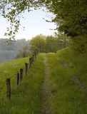 Overgrown field path Royalty Free Stock Photos