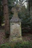 Overgrown grave stone Stock Photos