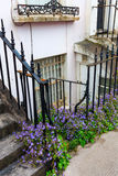 Overgrown house entrance in London Royalty Free Stock Image