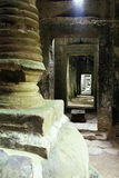 Overgrown Khmer ruin- Angkor Wat, Cambodia. Royalty Free Stock Photo