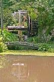 Overgrown Mill & Footbridge Stock Photo