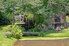 Overgrown Mill & Pond Royalty Free Stock Photos