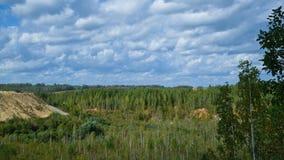 Overgrown quarry. Stock Photo