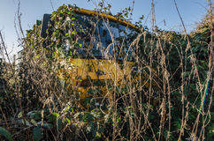 Overgrown unimog car Stock Photography