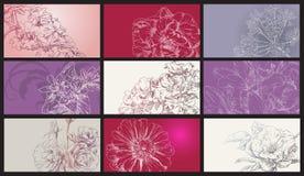 Overhandig de achtergrond van de tekeningskaart Royalty-vrije Stock Afbeelding