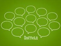 Recycleer de wolk van besprekingsbellen royalty-vrije illustratie
