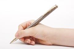 Overhandig het Schrijven Concept Stock Afbeeldingen
