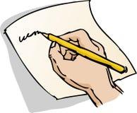 Overhandig het schrijven illustratie Stock Afbeeldingen