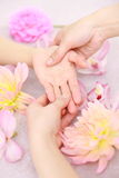 Overhandig Massage Royalty-vrije Stock Foto