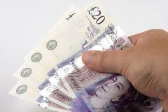 Overhandigend Contant geld Stock Afbeeldingen