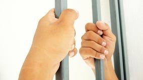 Overhandigt clutching bars royalty-vrije stock foto