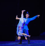 """Overhang Upside down-Dance drama """"The Dream of Maritime Silk Road"""" Royalty Free Stock Images"""