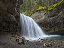 Overhanging Waterfall. An Overhanging Waterfall In the Canadian Rocky Mountains Stock Image