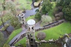 Overhead aerial view of Blarney castle,Ireland. Stock Photo