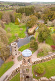 Overhead aerial view of irish Blarney Castle Royalty Free Stock Images