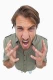 Overhead angle of angry man Stock Photography