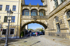 The overhead bridge in Dresden, Germany Royalty Free Stock Photography