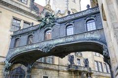 The overhead bridge in Dresden Stock Images