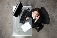 Overhead businesswoman Stock Image