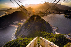 Overhead cable car Stock Images