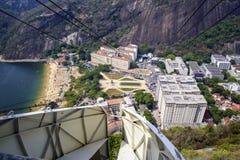 Overhead cable car over Sugarloaf Mountain, Rio De Janeiro, Braz Royalty Free Stock Photo