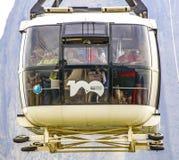 Overhead cable car over Sugarloaf Mountain, Rio De Janeiro, Braz Royalty Free Stock Photos