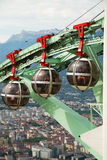 Overhead cable cars in Grenoble. Stock Photo