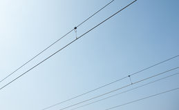 Overhead cables Stock Photography