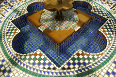 Fountain St. Louis F. Overhead close view of beautiful, colorful tiled fountain in the Missouri Botanical Garden Royalty Free Stock Photos