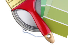 Closeup of Painting Supplies Stock Photo