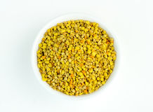 Overhead closeup of yellow and orange Australian bee pollen Royalty Free Stock Photo