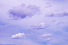 Overhead the clouds on a bright blue sky Royalty Free Stock Photography