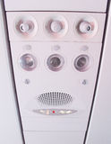 Overhead console in the aircraft Royalty Free Stock Photography