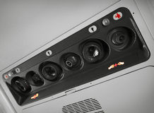 Overhead console in aircraft Stock Images