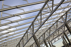 Overhead construction beams Royalty Free Stock Photography