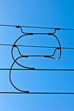 Overhead contact wires Royalty Free Stock Photos