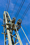 Overhead contact wiring Stock Photos